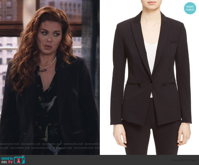 Scuba Jacket by Veronica Beard worn by Grace Adler (Debra Messing) on Will & Grace
