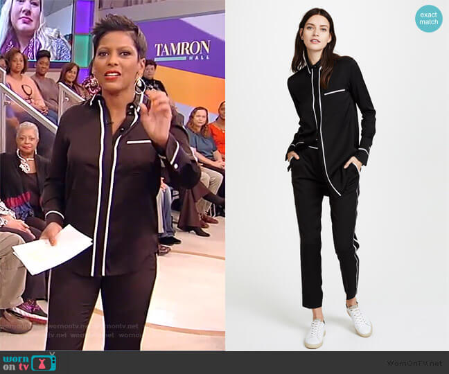 One Pocket Shirt and Fluid Pants by Victoria Victoria Beckham worn by Tamron Hall  on Tamron Hall Show