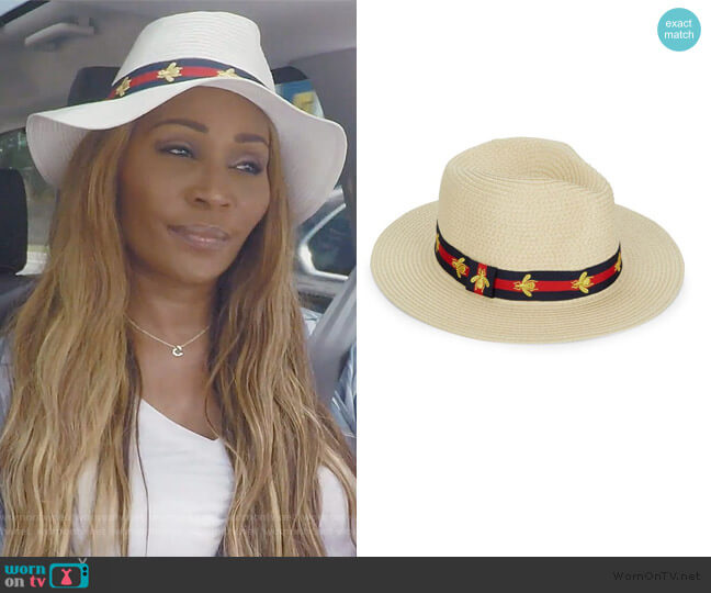 Bee Preppy Panama Hat by Vince Camuto worn by Cynthia Bailey  on The Real Housewives of Atlanta