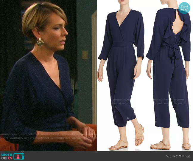 Whistles Crepe Cropped Jumpsuit worn by Nicole Walker (Arianne Zucker) on Days of our Lives