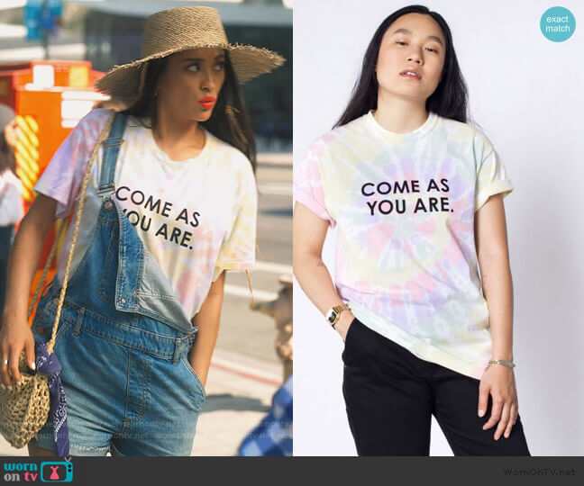 Come As You Are Pride Tee by Wild Fang worn by Stella Cole (Shay Mitchell) on Dollface