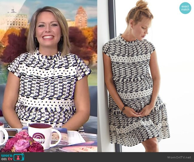 Schiffli Maternity Dress - Shimla Collection by A Pea in the Pod worn by Dylan Dreyer  on Today