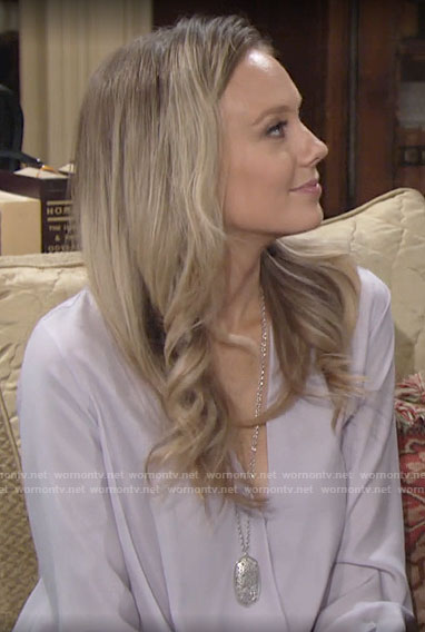 Abby's lilac blouse on The Young and the Restless