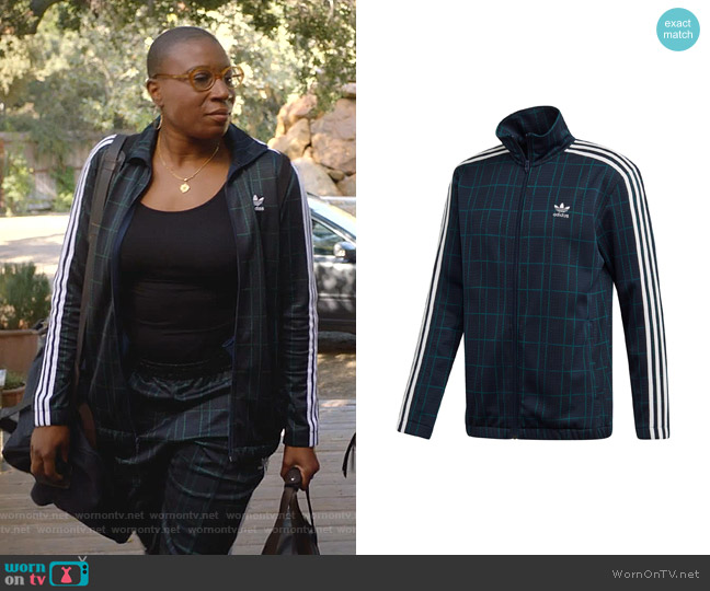 Adicolor Tartan Track Jacket by Adidas worn by Henrietta Wilson (Aisha Hinds) on 9-1-1