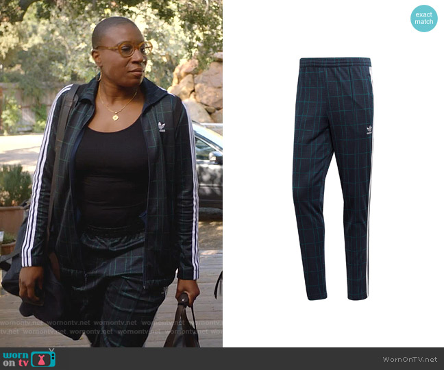 Adicolor Tartan Track Pants by Adidas worn by Henrietta Wilson (Aisha Hinds) on 9-1-1