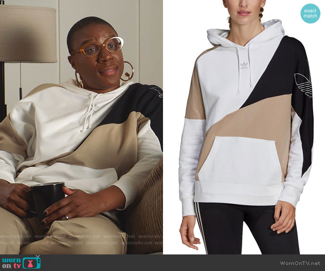 OG Colorblock Hoodie by Adidas worn by Henrietta Wilson (Aisha Hinds) on 9-1-1