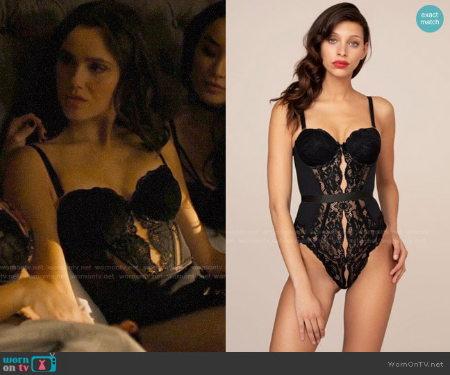 Agent Provocateur Jorja Body Black worn by Abigael Jameson-Caine (Poppy Drayton) on Charmed