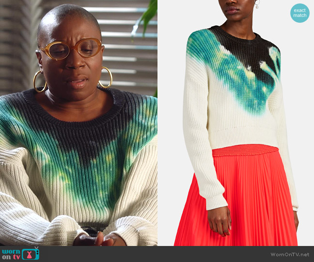 Elinor Tie-Dyed Cotton-Blend Sweater by A.L.C. worn by Henrietta Wilson (Aisha Hinds) on 9-1-1