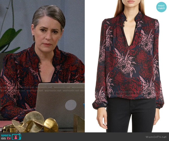 ALC Beatrix Blouse worn by Veronica on Mom