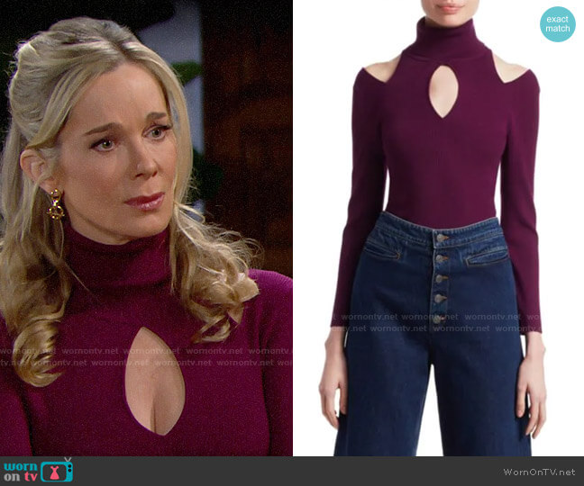 ALC Matera Sweater worn by Donna Logan (Jennifer Gareis) on The Bold & the Beautiful