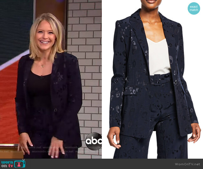 Reyna Bengal Jacket by Alexis worn by Sara Haines  on Good Morning America
