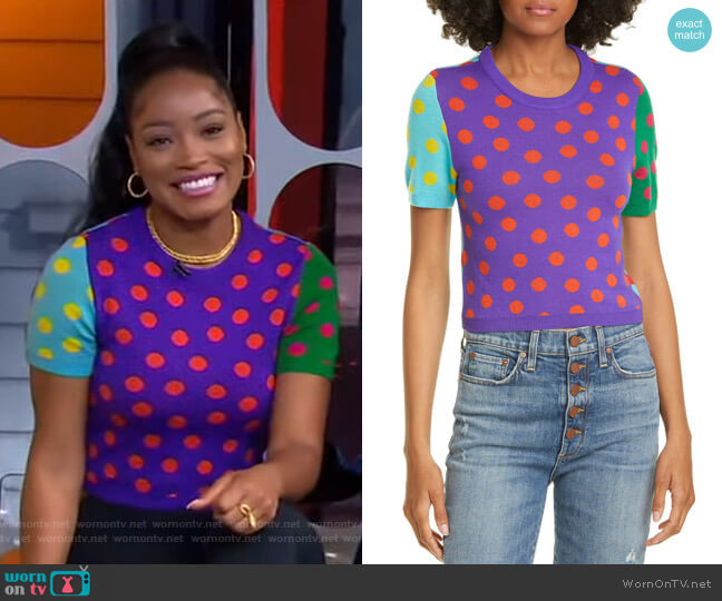 Ciara Reversible Sweater by Alice + Olivia worn by Keke Palmer  on Good Morning America