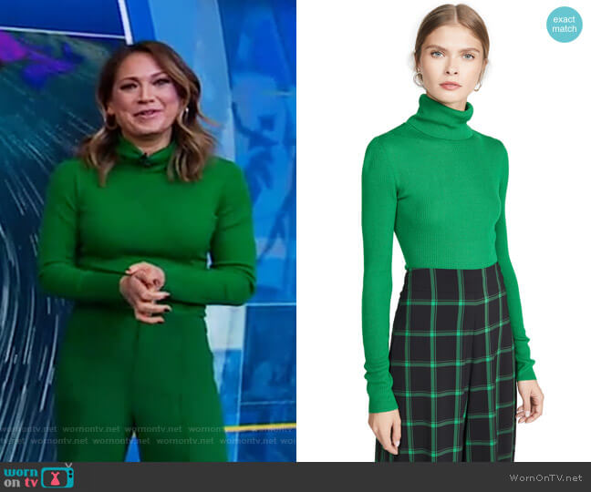 Roberta Sweater by Alice + Olivia worn by Ginger Zee  on Good Morning America