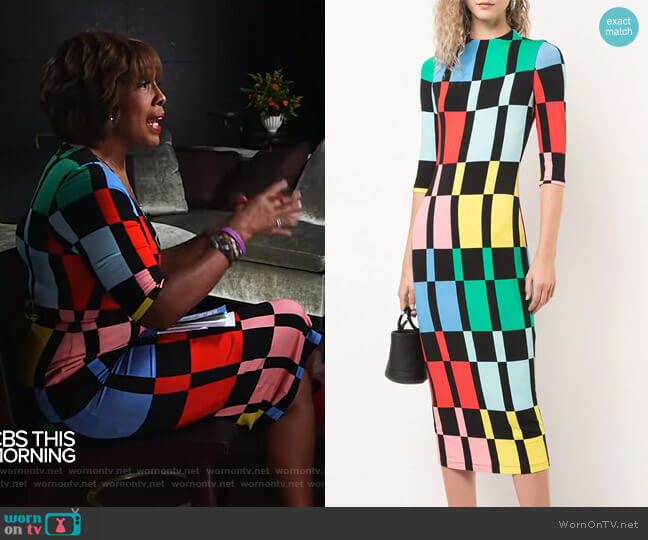 Delora Dress by Alice + Olivia worn by Gayle King  on CBS This Morning