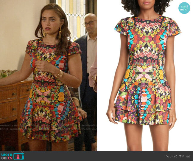 Alice + Olivia Ainsley Dress worn by Jaya (Shazi Raja) on God Friended Me