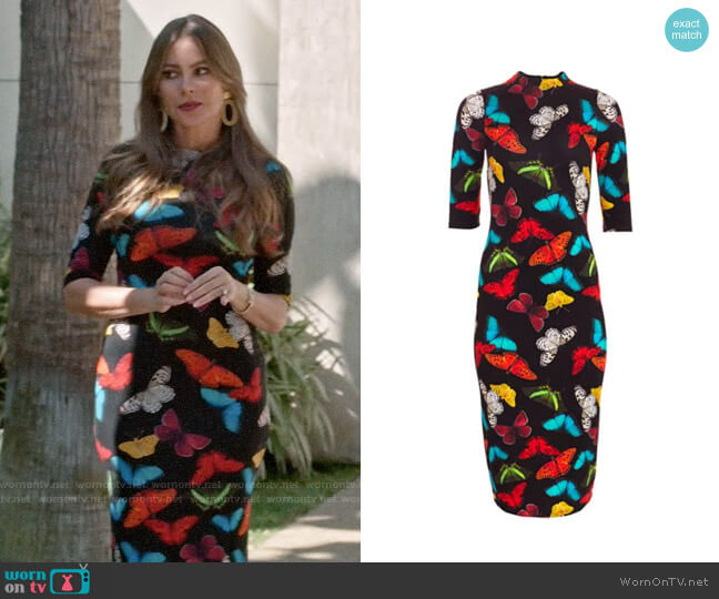 Alice + Olivia Delora Butterfly Dress worn by  Gloria Pritchett (Sofia Vergara) on Modern Family