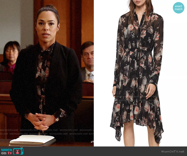 All Saints Lizzy Eden Shirt Dress worn by Emily Lopez (Jessica Camacho) on All Rise