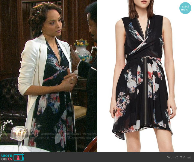 All Saints Jayda Violy Dress worn by Lani Price (Sal Stowers) on Days of our Lives