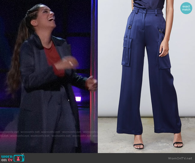 Allen Schwartz Lexy Cargo Pant worn by Lilly Singh  on A Little Late with Lilly Singh