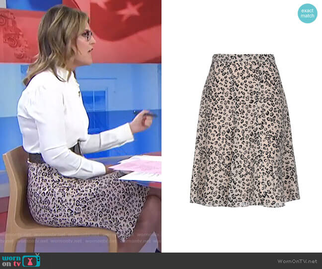 Leopard Print Skirt by Altuzarra worn by Savannah Guthrie  on Today