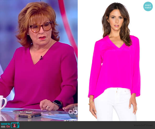 Heather Long Sleeve Top by Amanda Uprichard worn by Joy Behar  on The View