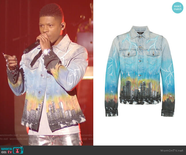 City Dragon Trucker Jacket by Amiri worn by Hakeem Lyon (Bryshere Y. Gray) on Empire