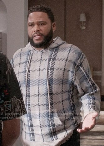 Andre's plaid hoodie on Black-ish