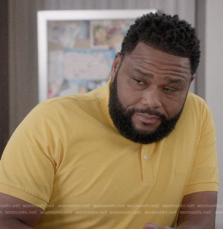 Andre's yellow BOSS polo on Black-ish