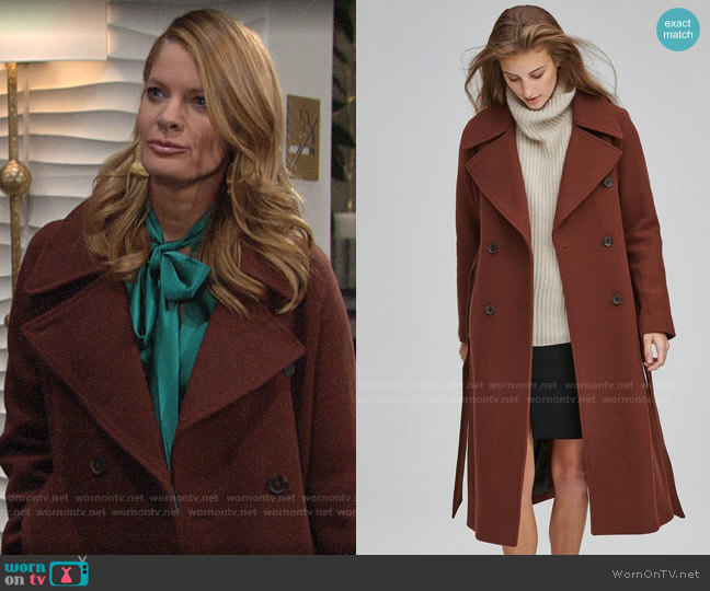 Andrew Marc Alva Coat worn by Phyllis Summers (Michelle Stafford) on The Young & the Restless