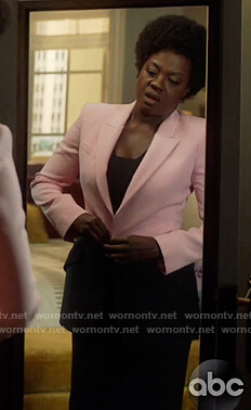 Annalise's pink two tone blazer on How to Get Away with Murder