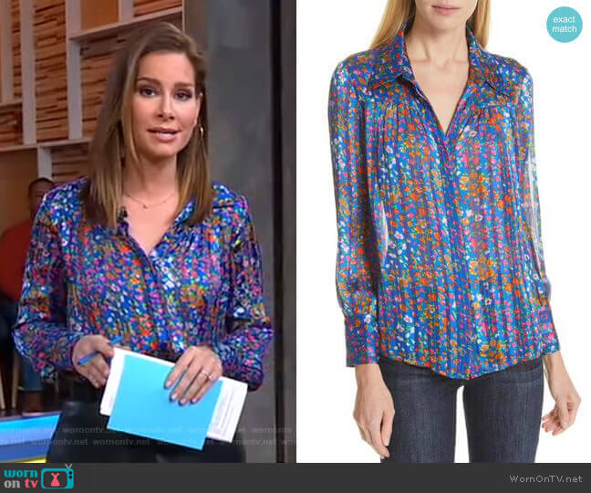 Rive Shirt by Ba&sh worn by Rebecca Jarvis  on Good Morning America
