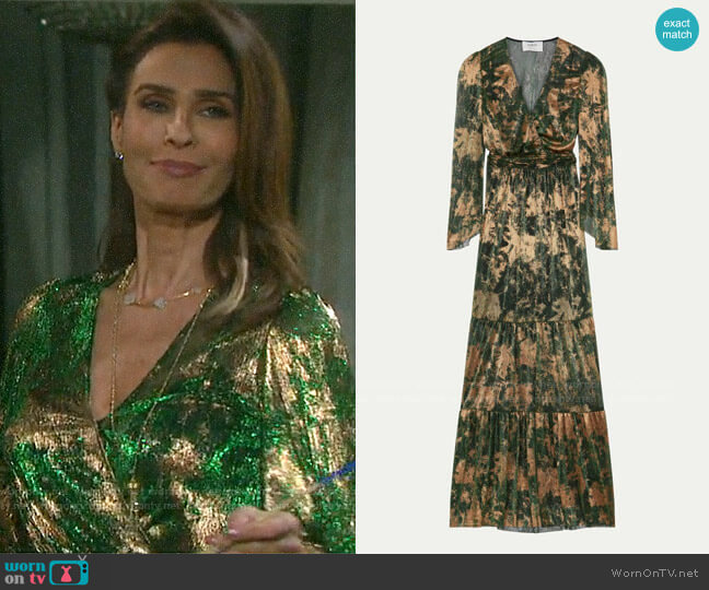 ba&sh Vianca Dress worn by Hope Williams (Kristian Alfonso) on Days of our Lives