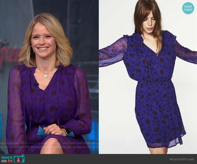 Gizel Dress by Ba&Sh worn by Sara Haines  on Good Morning America
