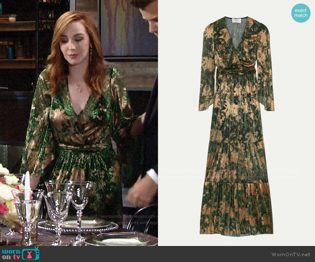 ba&sh Vianca Dress worn by Mariah Copeland (Camryn Grimes) on The Young & the Restless