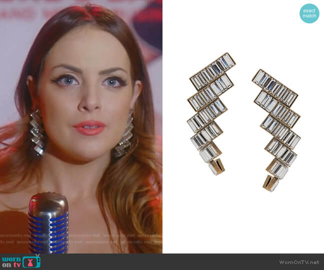 Evening Earrings by Balenciaga worn by Fallon Carrington (Elizabeth Gillies) on Dynasty