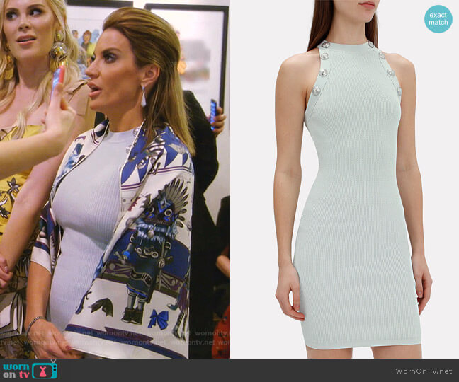 Halter-Neck Knit Mini Dress by Balmain worn by Cary Deuber  on The Real Housewives of Dallas