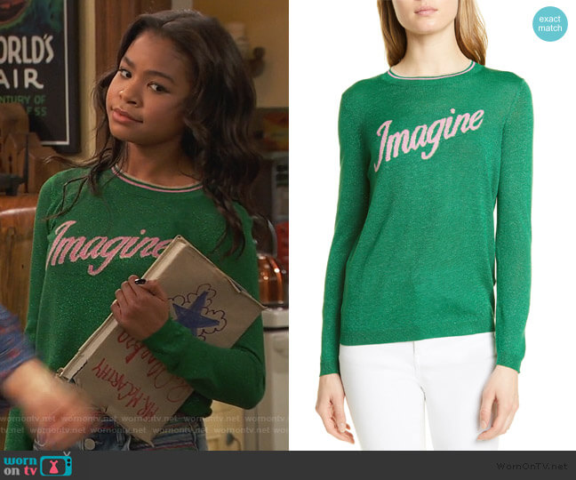 Loui Imagine Sweater by Ba&sh worn by Nia Baxter (Navia Robinson) on Ravens Home