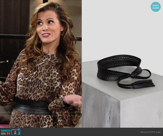 Bcbgmaxazria Tassel Faux-Leather Waist-Belt worn by Chelsea Lawson (Melissa Claire Egan) on The Young & the Restless
