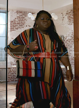 Becky's multicolor striped dress on Empire
