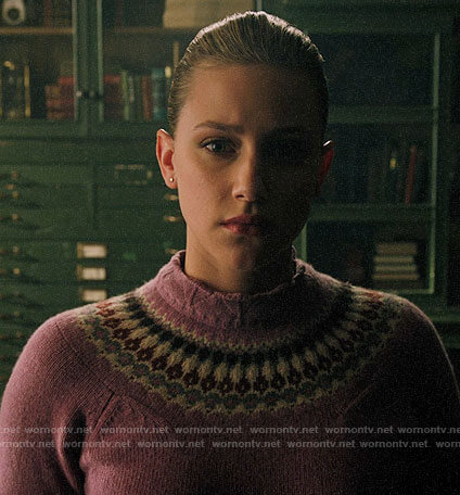 Betty's pink fair isle sweater on Riverdale