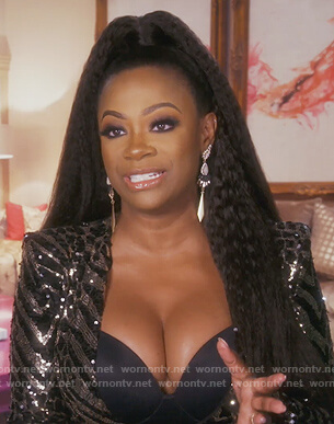 Kandi's black sequin dress on The Real Housewives of Atlanta