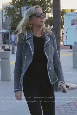 Shannon's gray tweed jacket on The Real Housewives of Orange County