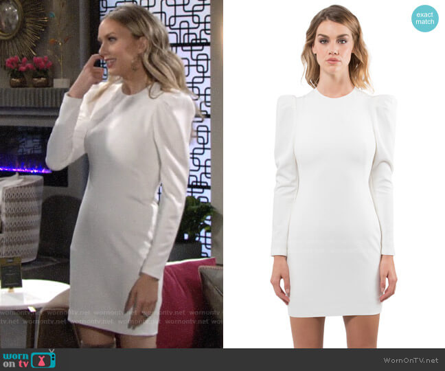 Black Halo Hadley Dress worn by Abby Newman (Melissa Ordway) on The Young & the Restless
