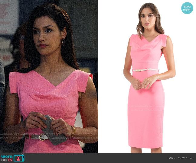 Black Halo Pink Jackie O Dress worn by Alison Namazi (Janina Gavankar) on The Morning Show