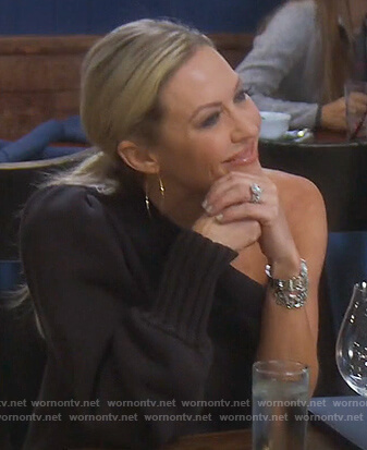Braunwyn's black one shoulder sweater dress on The Real Housewives of Orange County