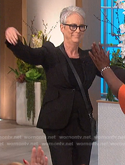 Jamie Lee Curtis's black blazer on The Talk