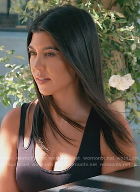 Kourtney's black cutout tank on Keeping Up with the Kardashians