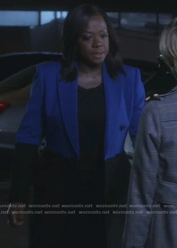 Annalise's two-tone coat on How to Get Away with Murder