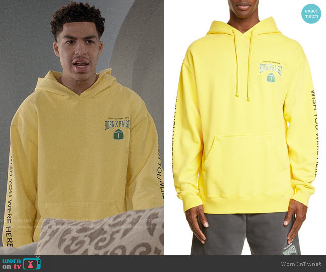 Born x Raised PCH 1 Hoodie worn by Andre Johnson Jr (Marcus Scribner) on Blackish