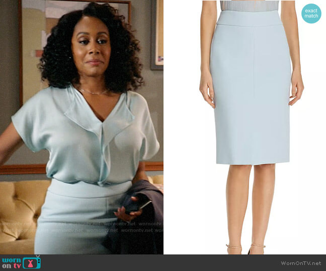 BOSS Vemiara Pencil Skirt worn by Lola Carmichael (Simone Missick) on All Rise